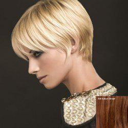 Outstanding Short Side Bang Straight Capless Real Natural Hair Wig