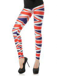 Striped Elastic Leggings - STRIPE