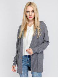 Simple Style Long Sleeve Cardigan -