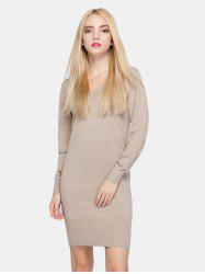 Long Sleeve Fitted Knit Jumper Dress