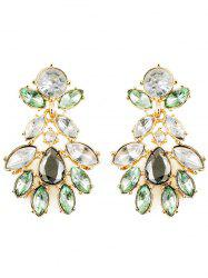 Faux Crystal Oval Water Drop Earrings -