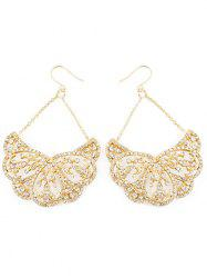Rhinestoned Water Drop Wedding Jewelry Earrings -