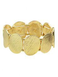 Alloy Oval Sequins Gold Plated Elastic Bracelet