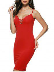Cami Club Dress - RED S