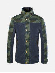 Stand Collar Camo Panel Jacket ODM Designer - CAMOUFLAGE XL