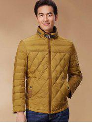 Stand Collar Geometric Padded Jacket ODM Designer - GINGER 3XL