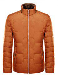 Zipper Up Geometric Padded Jacket ODM Designer