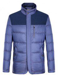 Spliced Zipper-Up Pockets Design Padded Jacket ODM Designer -