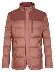 Spliced Zipper-Up Pockets Design Padded Jacket ODM Designer - LATERITE S