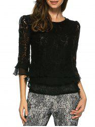 Ruffled Lace Blouse -
