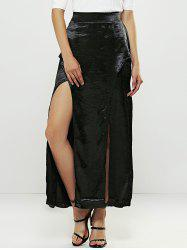 Double High Slit Maxi Skirt