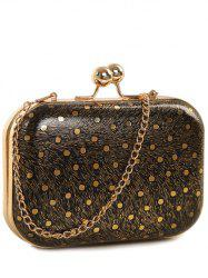 Kiss Lock Dot Chains Evening Bag -