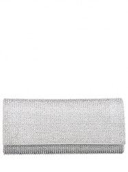 Chains Flap Rhinestone Evening Bag -