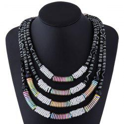 Winding Rope Layered Necklace -