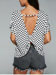 Polka Dot Blackless Twist Knot T-Shirt