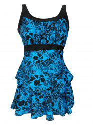Plus Size Floral Printed Tankini Swimsuit