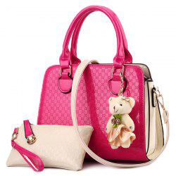 PU Leather Embossing Metal Tote Bag