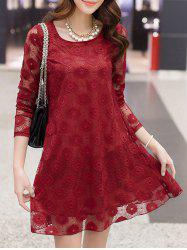 Openwork Lace Swing Dress