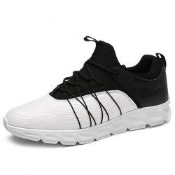 Spliced Lace-Up Athletic Shoes -