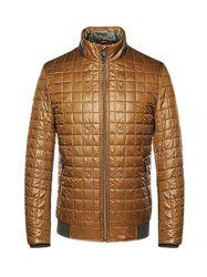 Geometric Zip Up Padded Jacket ODM Designer -
