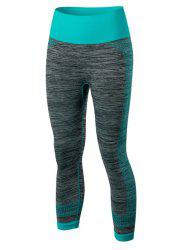 Sport Capri Running Leggings - BLUE