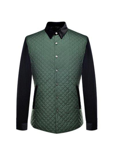 Cheap Single Breasted Argyle Quilted Spliced Jacket ODM Designer