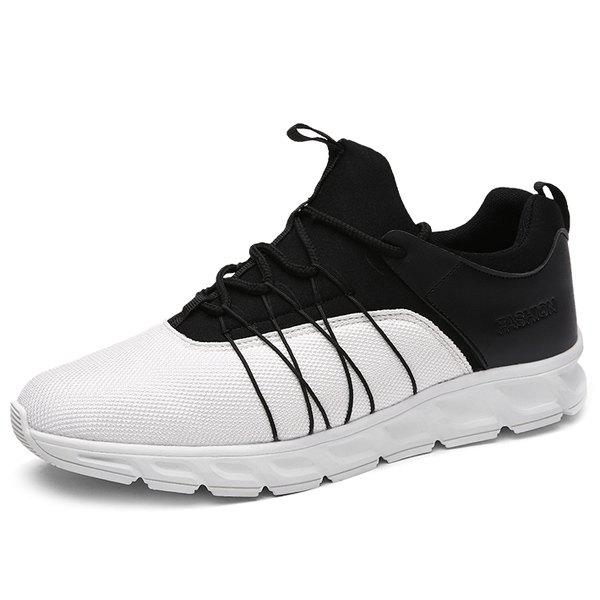 Online Spliced Lace-Up Athletic Shoes