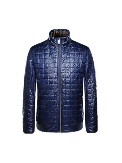 Store Geometric Zip Up Padded Jacket ODM Designer
