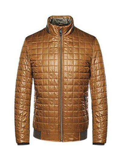 Discount Geometric Zip Up Padded Jacket ODM Designer