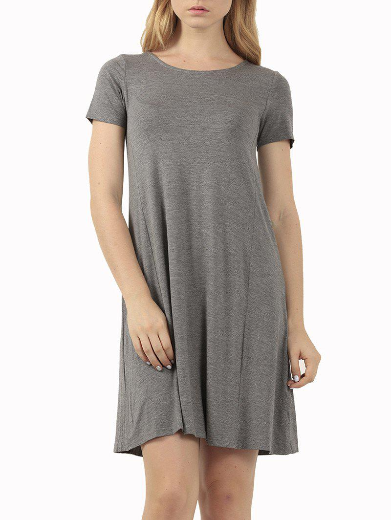 Fashion Casual Short Sleeve Affordable Flare T-Shirt Dress