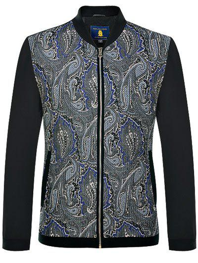 Online Zip Up Printed Long Sleeves Jacket ODM Designer