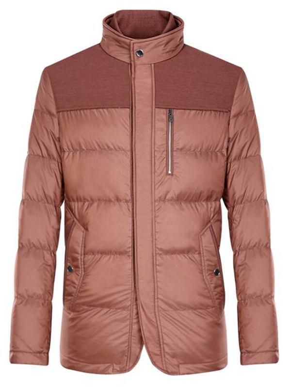 Shops Spliced Zipper-Up Pockets Design Padded Jacket ODM Designer