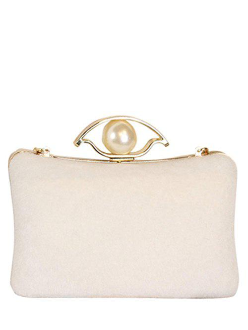 Discount Chain Faux Pearl Metal Evening Bag