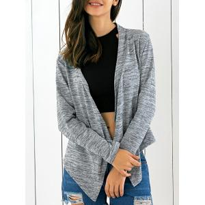 Lace Splicing Asymmetrical Cardigan