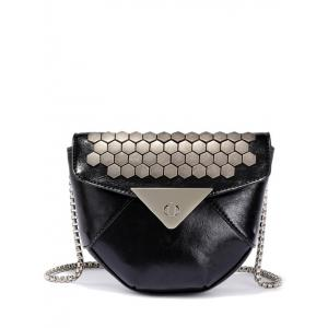 Hasp Metal Chain Crossbody Bag
