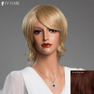 Short Side Bang Tilt Straight Siv Real Natural Hair Wig