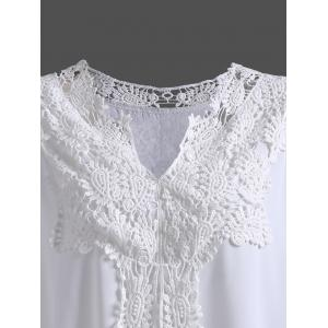 Plus Size Cold Shoulder Crochet Blouse -