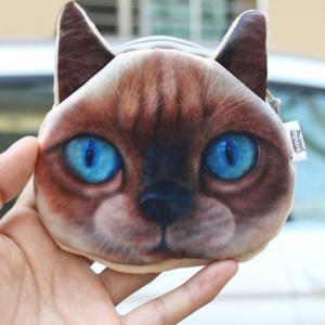 Original Creative Lifelike Cat Coin Bag - Brown