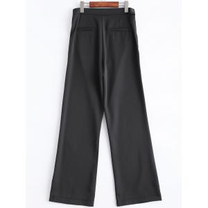 Business Suit High Waist Boot Cut Pants - BLACK 2XL