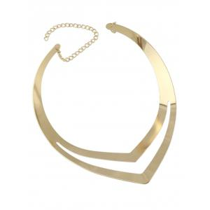 V Shape Hollow Out Necklace -