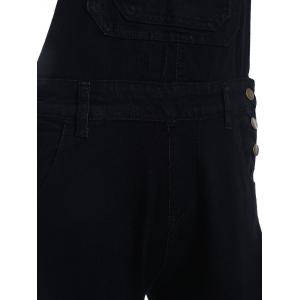 Pure Color Buttoned Racerback Overall Pants -