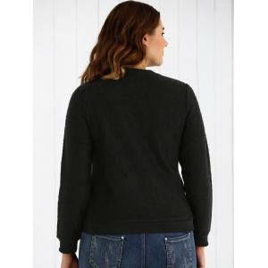 Plus Size Swan Pattern Warm Sweatshirt -