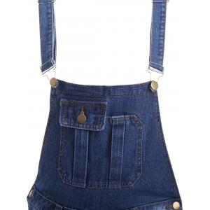 Pocket Design Ripped Racerback Overall Pants -