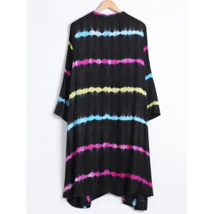 V-Neck Colorized Striped Loose Fitting Dress -