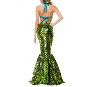 Shiny Maxi Scalloped Mermaid Cosplay Costume -