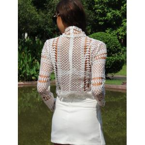 Lace Crochet Embroidery Blouse -