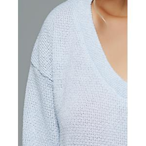 V Neck Loose-Fitting Sweater -