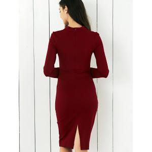 Bow Tie Concealed Zipper Bodycon Dress -