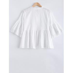 Loose Frilled Blouse -