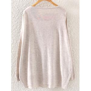 Loose Plus Size Graphic Sweaters -